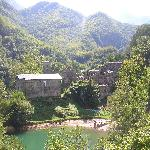 panorama dalla diga