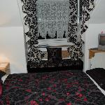 The room we had for our honeymoon - the bedding and curtains were all handmade!  Beautiful!