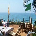 Cliff top restaurant views at Varkala