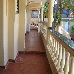 the exterior corridor of Shalom