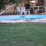 Hotel garden with pool