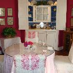 The dining room with guest pantry