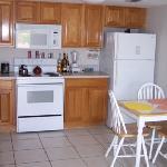 Full kitchen in each condo
