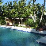 Pool and villa at Eva Luna