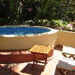 Private plunge pool on our balcony