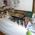 The Breakfast Table after Buffet Breakfast is Finished (10am) - still plenty left! (2008)