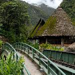 Entering Inkaterra Hotel from the train station