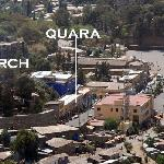 The Quara Hotel as seen from the Goha