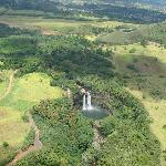 Picture-Perfect Wailua Falls from the helicopter
