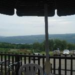 view from lunch at Bully Hill Vineyard