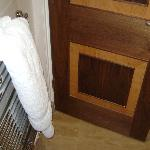 Hot Towel Rack Elegant Wood Doors