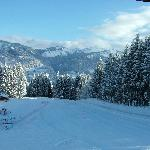 View of Nursery slope right outside chalet morillon