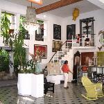 Main Hall of Hotel Trinidad Galeria, Merida