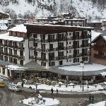 L'hôtel avec la salle de restaurant ronde