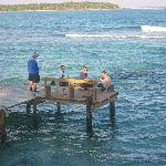East Dock at Long Caye