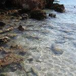 Spiaggia verso gli scogli