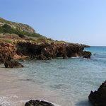 Spiaggia verso la scogliera