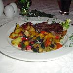 Main Dish-Steak with vegetables