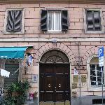 Hotel front door