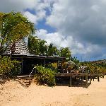 The sundowner bar at Galley Bay
