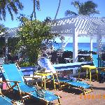 Pool bar & Dec, plus incredibly blue water