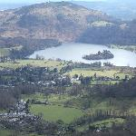 view of Grasmere from Helm Cragg