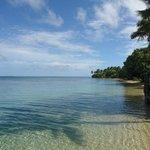 Pangaimotu Beach on a sunny day