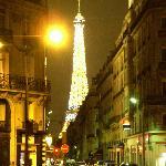 A view of La Tour Eiffel from a corner near Jays