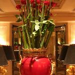 une décoration florale