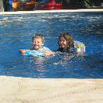 our kids in the pool