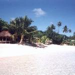 Actual picture taken by me of TBF beach and sleeping huts