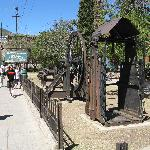 Front of mining museum, what made the town.