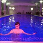 Me in the lovely hotel basement pool