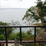 View of Lake Peten from our terrace