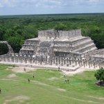vista desde lo alto de la piramide