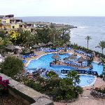 The pool & sea view as seen from 5th floor