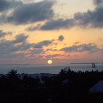 Sunset, cloudy day, from Hyatt Roof deck
