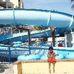 The slide at the water park!