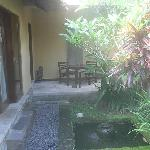 Part of the courtyard leading to the villa