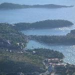 Cavtat from the mountain behind it