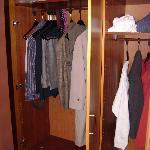 Generously sized closet