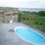 Great Pool, with view of the ocean, outdoor shower and pool toys