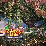 Rainforest Cafe in Opry Mills Mall about 1 mile from resort