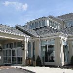 The entrance to the Hilton Garden Inn