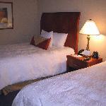 Inside our double room at the Hilton Garden Inn