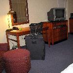 Inside our room at the Hilton Garden Inn