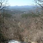 Amicalola Falls SP- view from top of falls
