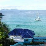 View from the terrasse Bequia in the background