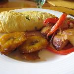 Breakfast at the Ritz - Omelet , Potatoes, Plantain