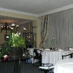 Salle à manger de l'excellent restaurant
